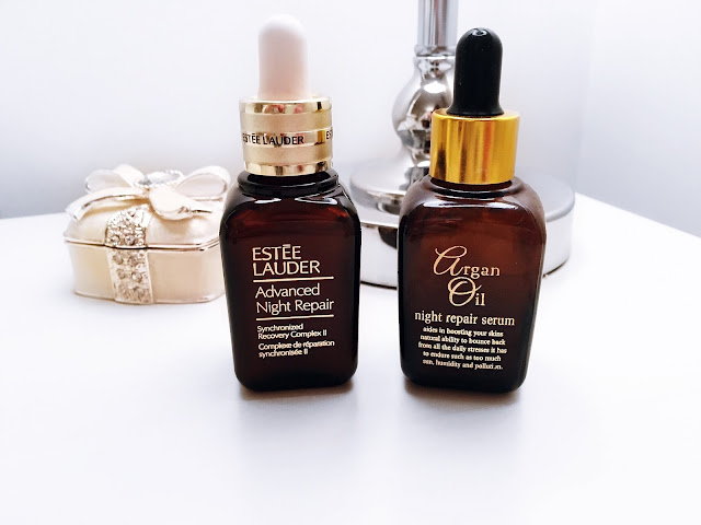 Estee Lauder Advanced night repair Synchronised Recovery Complex II serum and Argan Oil night repair serum