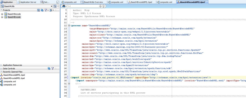 Oracle SOA / Java blog: Base64Encode and Base64Decode in BPEL