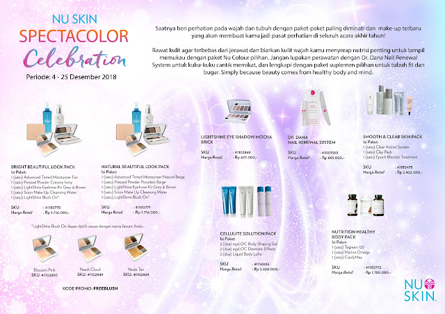 Promo Nu Skin Spectacolor Celebration 4-25 Desember 2018