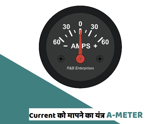 धारा मापने का यंत्र Ameter होता है