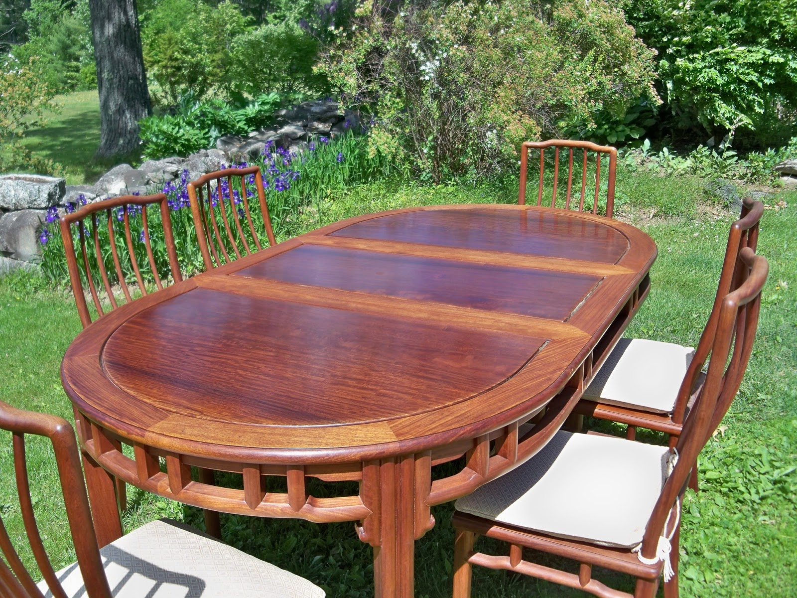 dining table and chairs hong kong outdoor stackable vintage rosewood six from goshen oval with a 20 removable leaf to have round 30 h x 44 width in center pads
