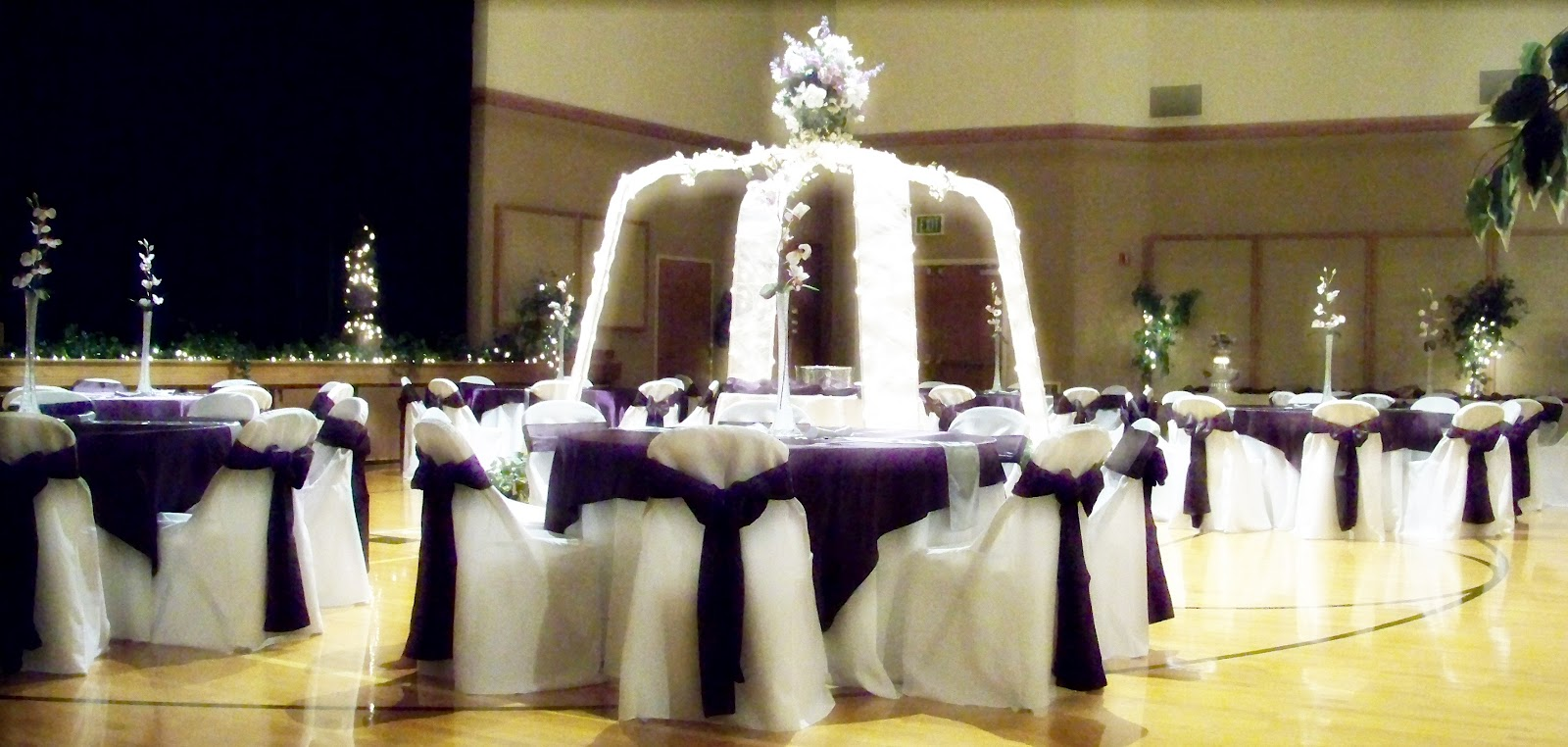 purple and silver wedding decoration purple and silver wedding Room View 1