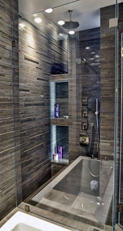 صور وأفكار ديكورات حمامات دش حديثة