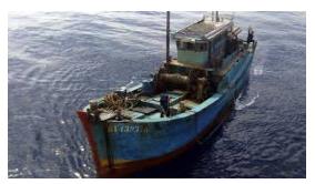 Kapal Asing diamankan Tim Gabungan Ditpolair Polda Aceh dan Polair Mabes Polri