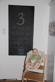 Tafelbild 3 Monate Brudi