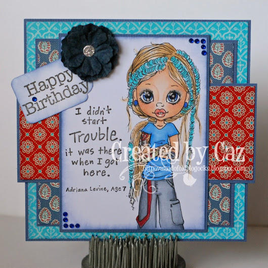 Cute Card Thursday - Blues and Hues!