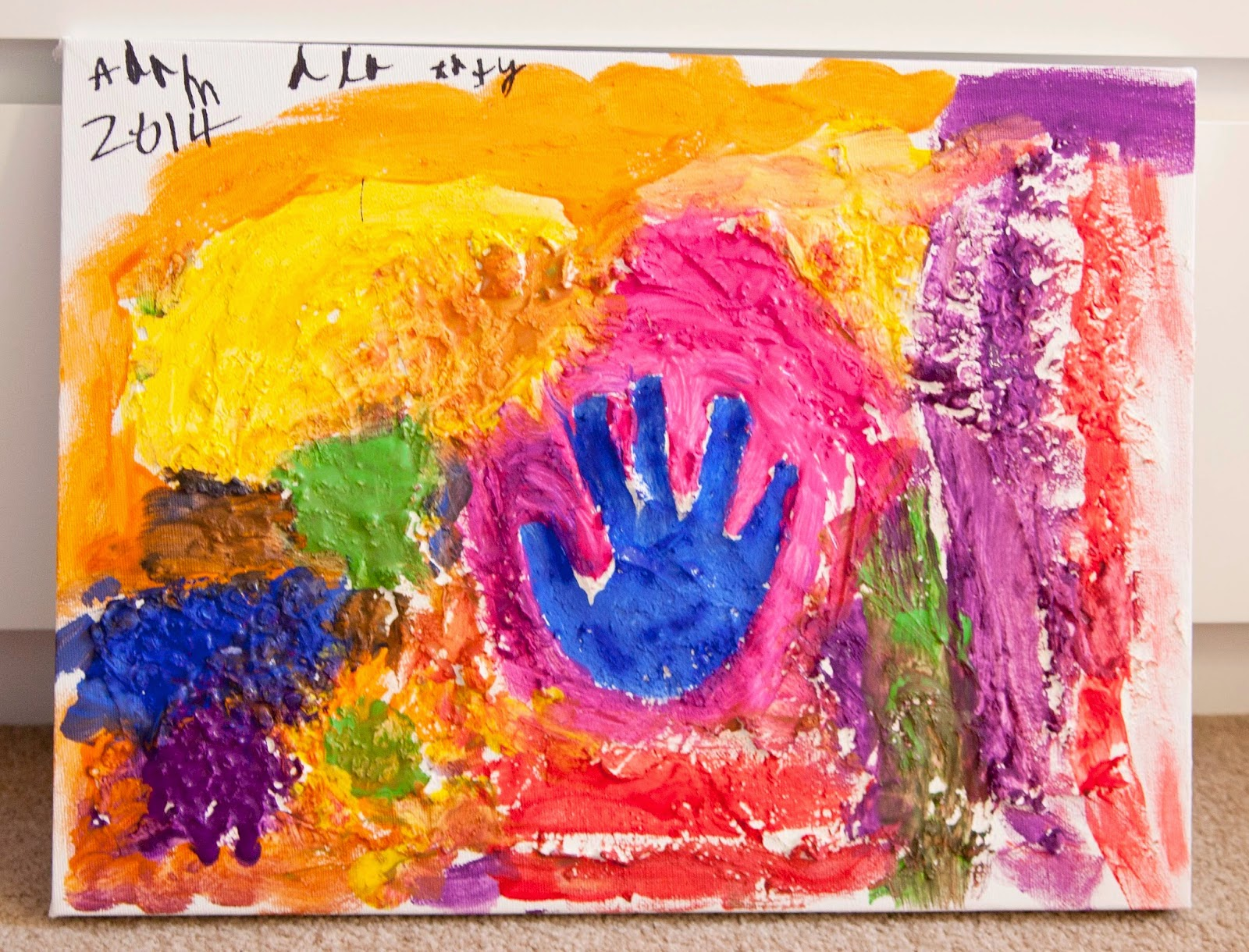 Mama Bee Simple: Feature Wednesday 'Texture Painting on Canvas'