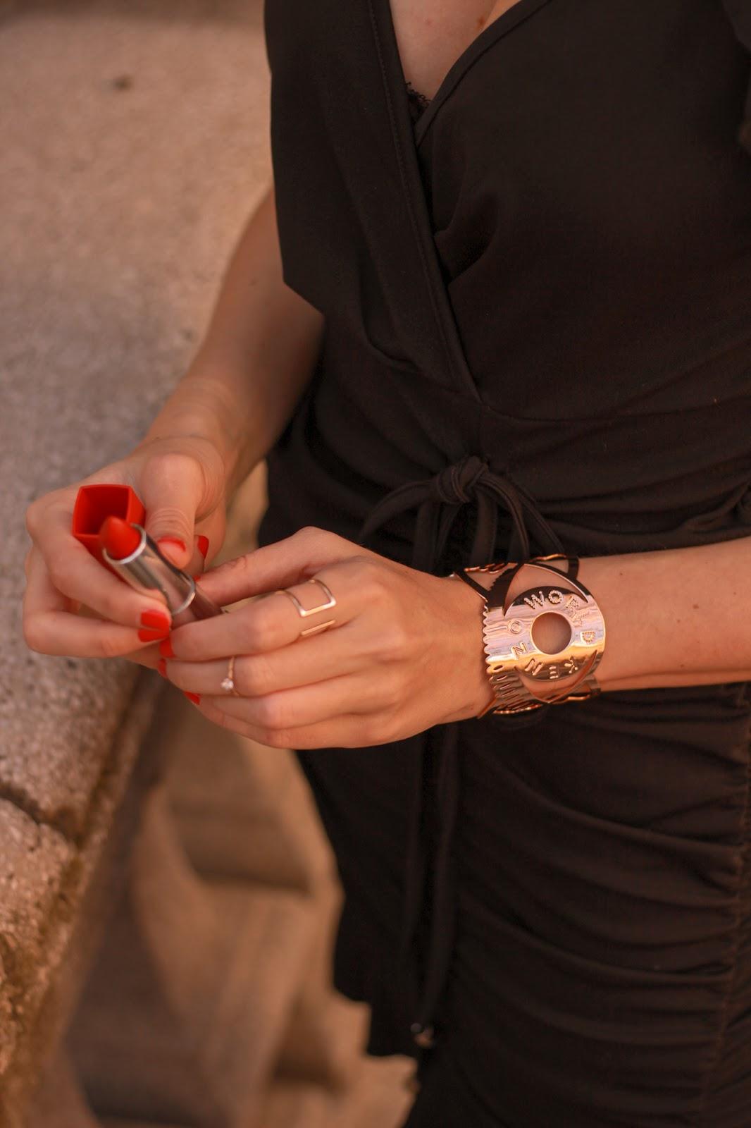 summer-little-black-dress-animal-print-slingbacks-raffia-bag