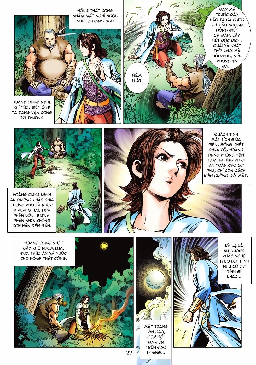 Anh Hùng Xạ Điêu anh hùng xạ đêu chap 53: lâm nguy thụ mệnh đả cẩu học pháp trang 28
