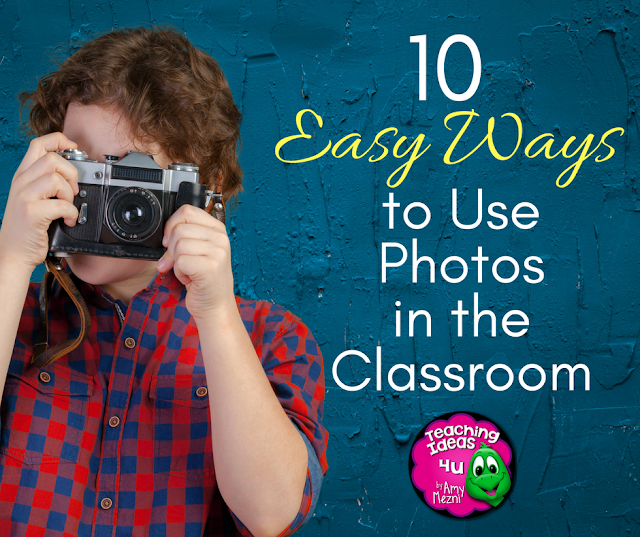 10 Easy Ideas for Using Photos in the Classroom - Do you love to take pictures but need ideas on how to use them? This post discusses ten ways teachers can integrate photos into their classroom organization and learning activities.