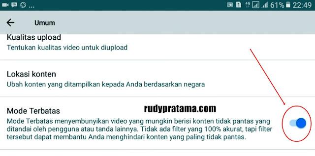 Memblokir Video Dewasa Youtube