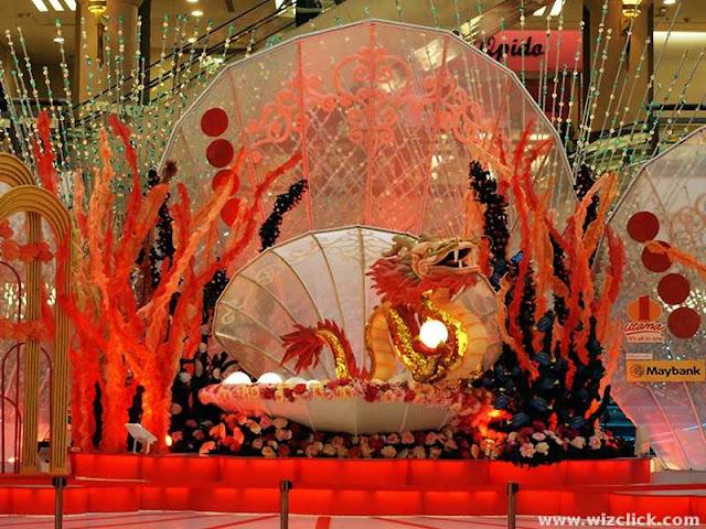 CHinese New year Dragon Decoration at 1Utama