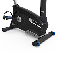 Front-mounted transport wheels on Nautilus U616 2018 Upright Exercise Bike, image