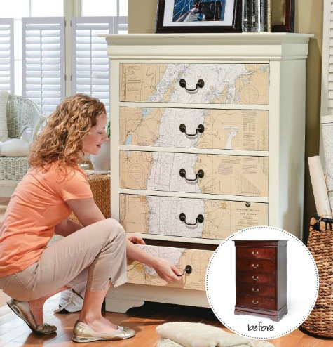 Decoupage Drawer Fronts