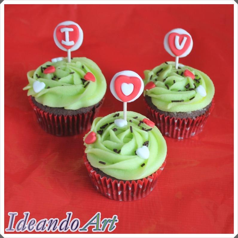 Cupcakes chocolate y melón
