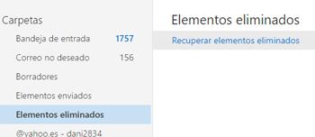 Recuperar correos eliminados  [Nuevo Outlook]