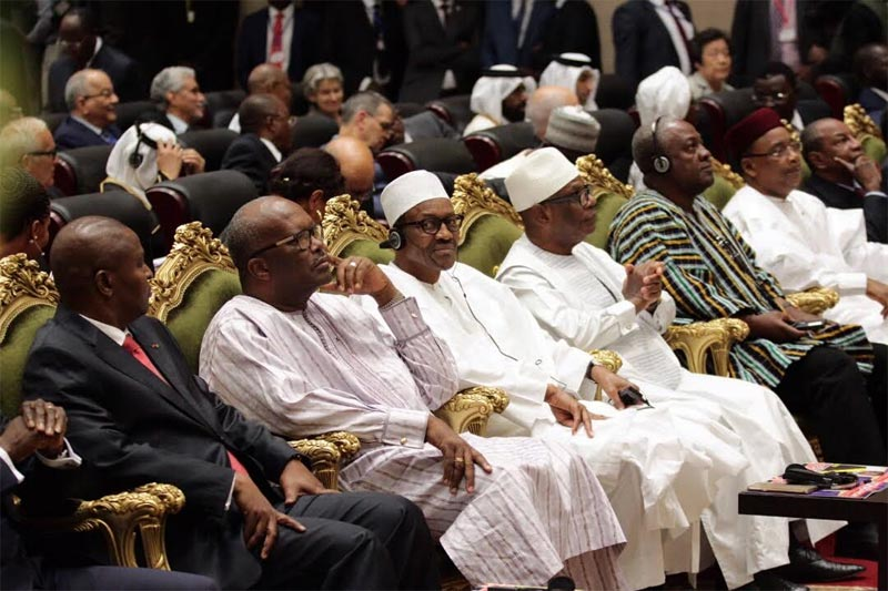 Photos: President Buhari, other African leaders at inauguration ceremony of president Idriss in Chad
