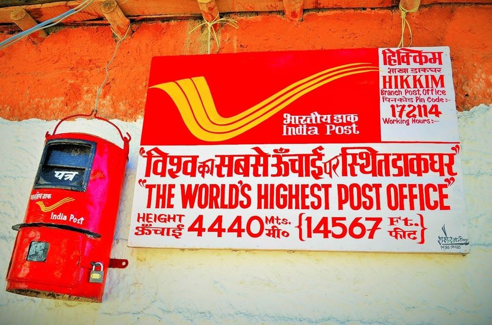 World's highest post office in India