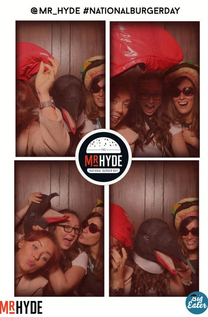 photo of girls in a photobooth