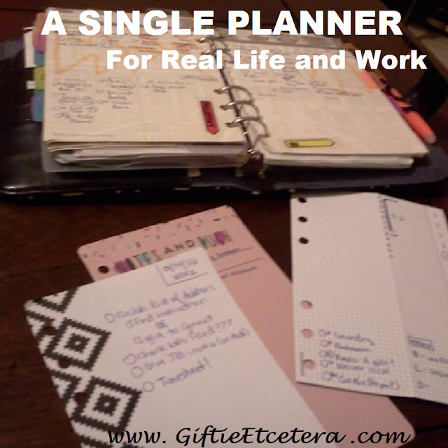 Personal, work, planner, combining work and personal planners