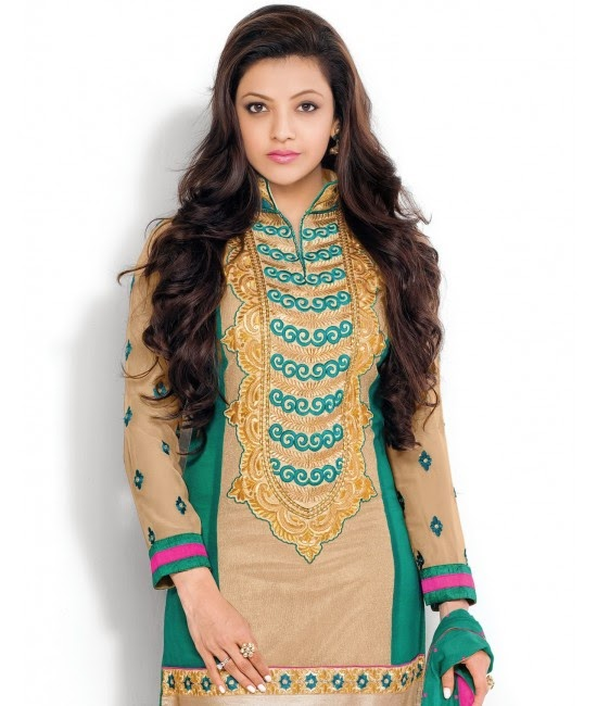 Kajal Agarwal in Beautiful Green Designer Dress