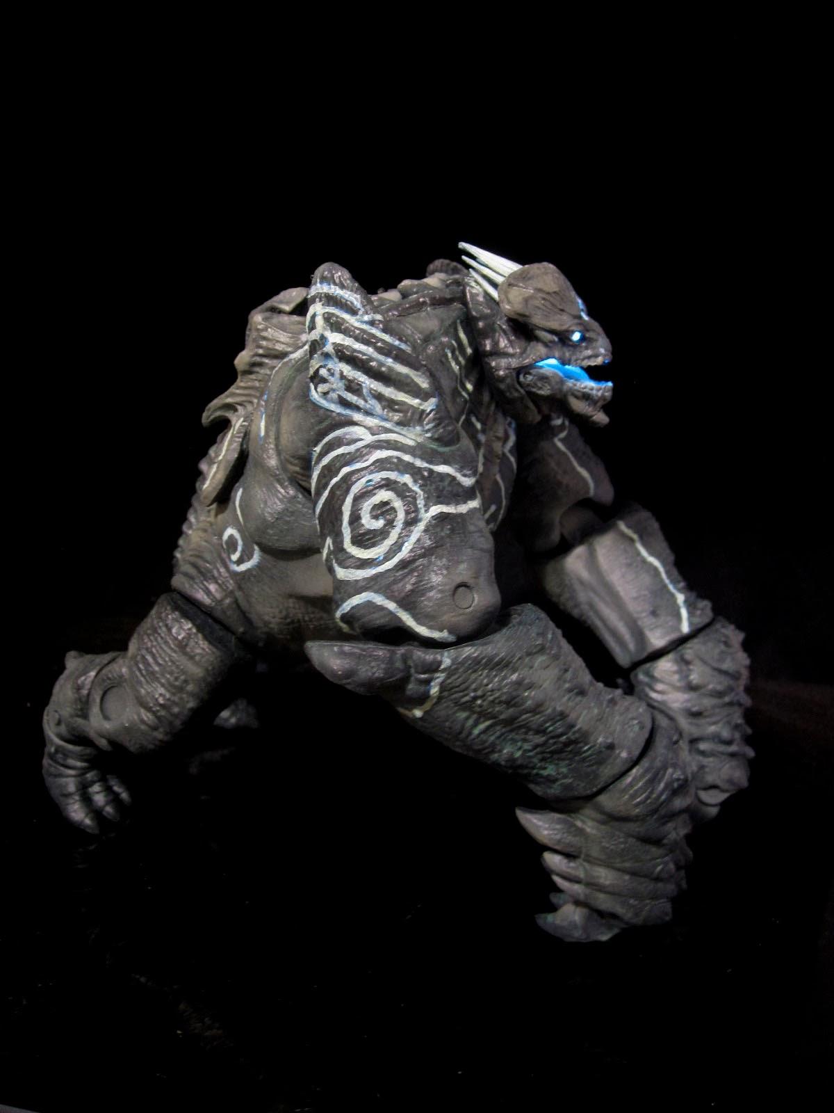 Pacific Rim Leatherback Kaiju neca custom light up action ...
