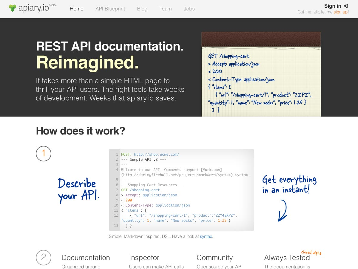 Working With Apiary.io - Create RESTful WebService Documentation Much Easier
