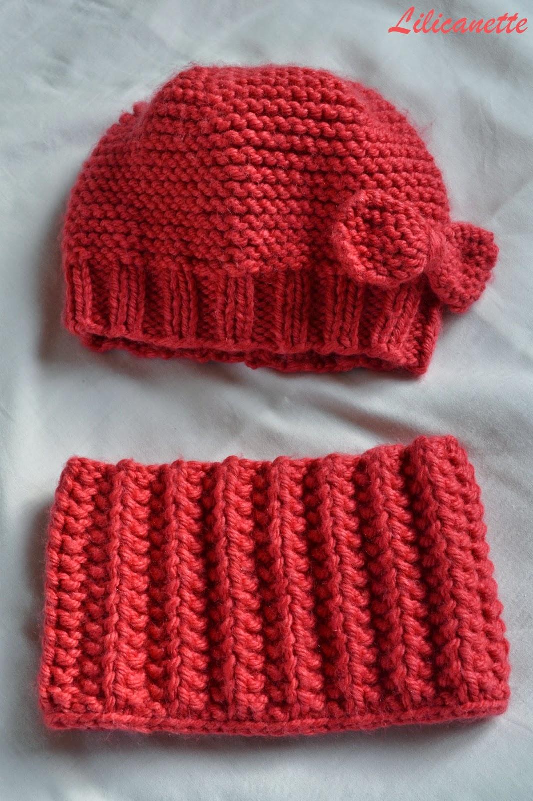 tricoter un snood fillette