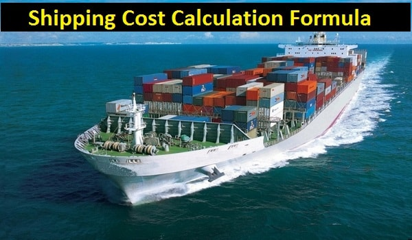 Shipping cost calculation formula