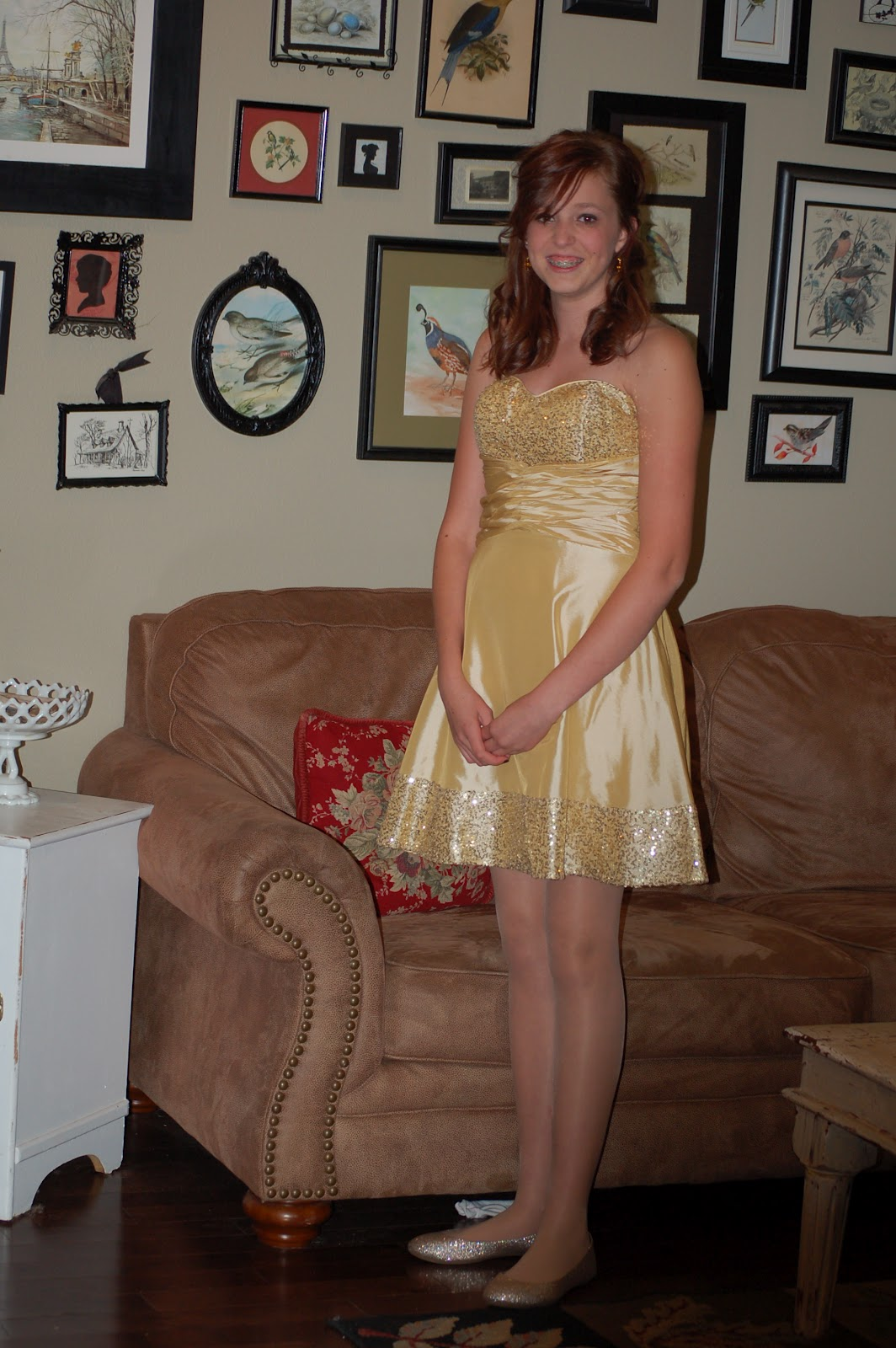 It was my little girls first Homecoming dance and her pictures are yucky.  Good thing she's beautiful. Can't say that much for the Daddy that's teasing  his ...
