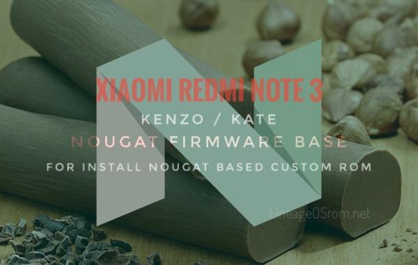Preflash Nougat firmware Redmi Note 3