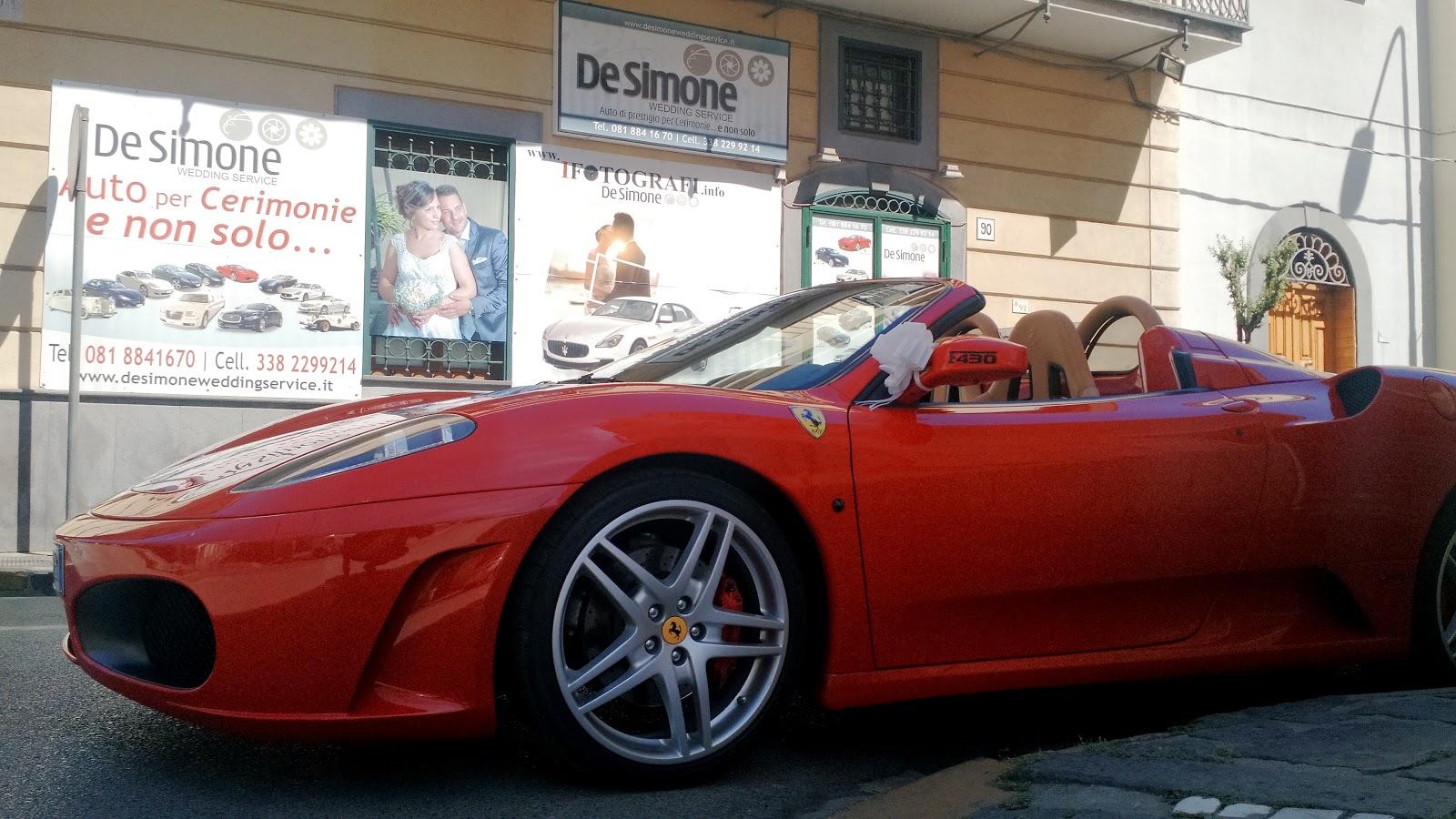 Matrimonio In Ferrari : De simone wedding service auto di prestigio per cerimonie e non