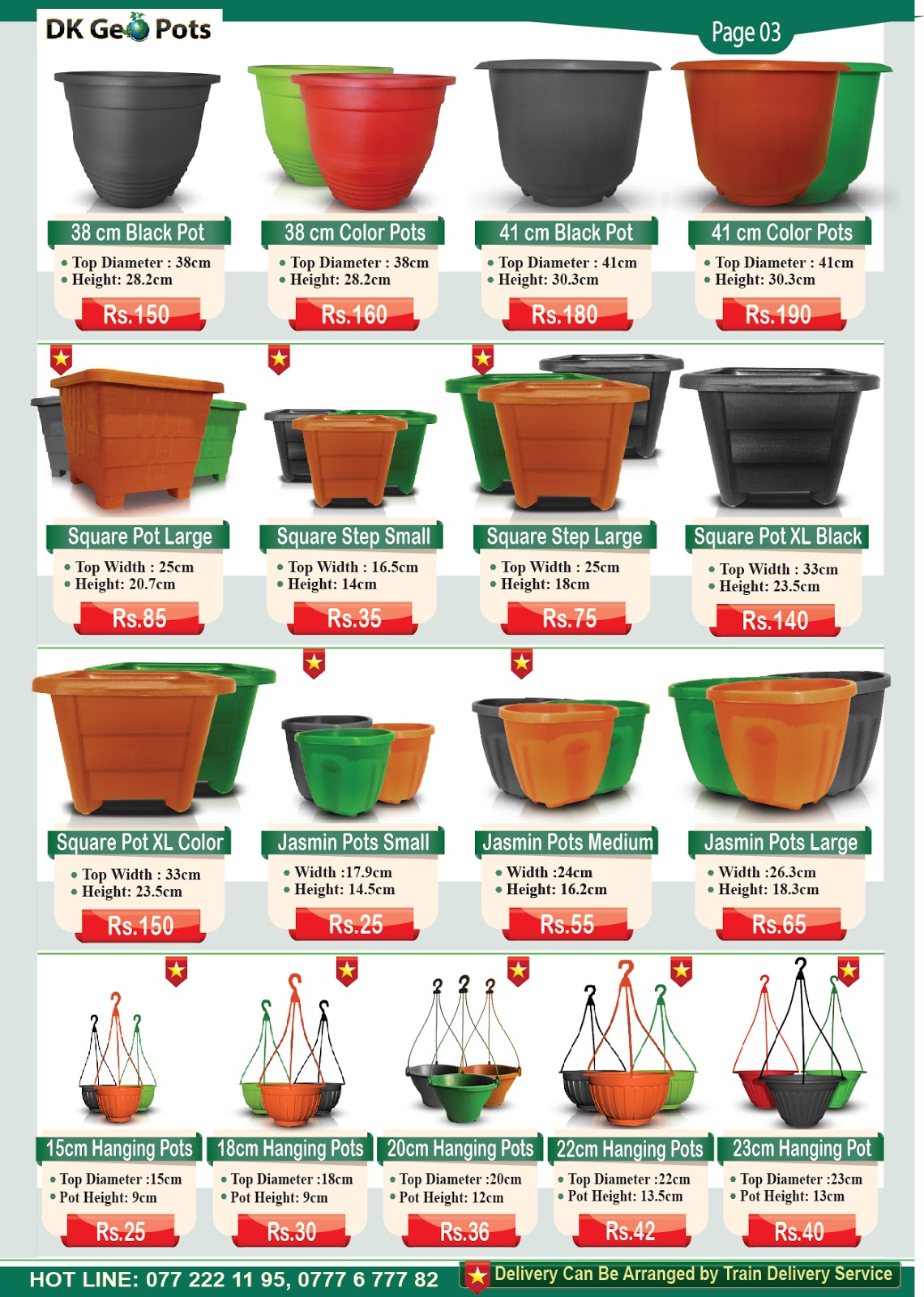 Whole Price List Dk Geo Pots
