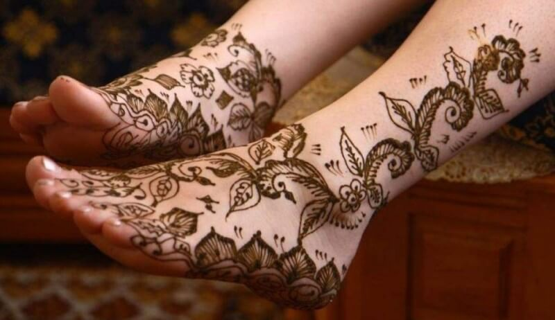 Gambar Motif Henna Untuk Kaki Yang Simple Nan Cantik Sirania Xyz