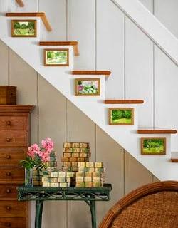 Escalera decorada