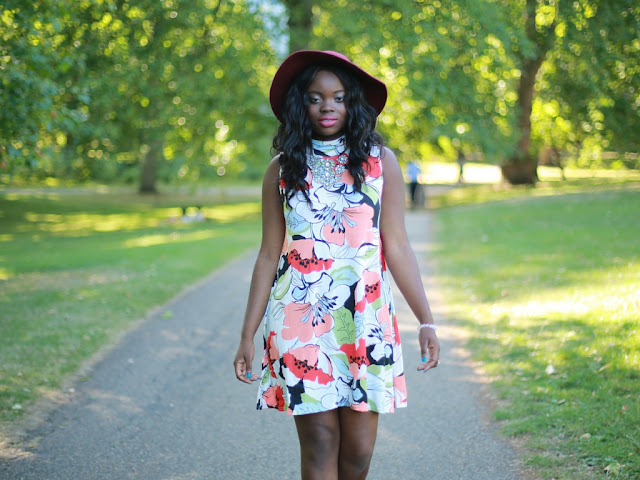 BOOHOO SWING FLORAL DRESS