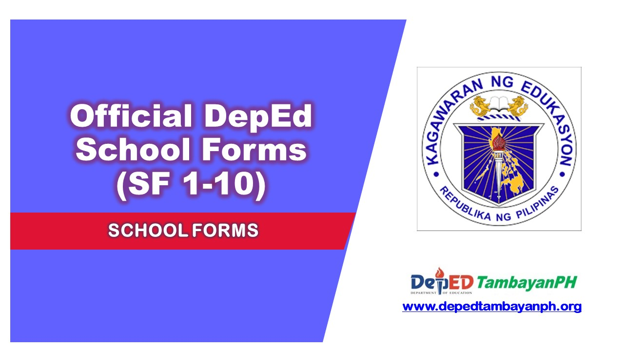 Deped's Official School Forms - Deped Tambayan PH