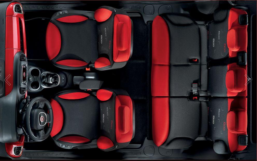 Dimensioni degli interni di Fiat 500L