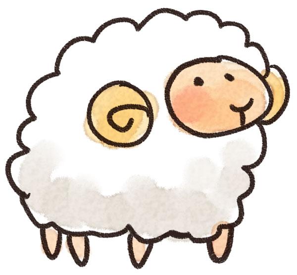 イラスト 馬 可愛い イラスト : 羊のイラスト(動物): ゆる ...