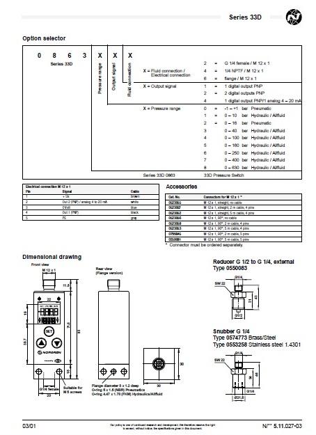 Norgren 33d manual
