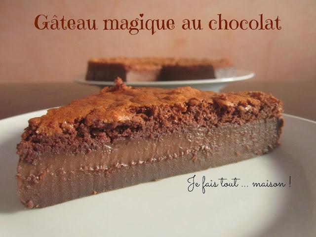 Recette du gateau magique au chocolat