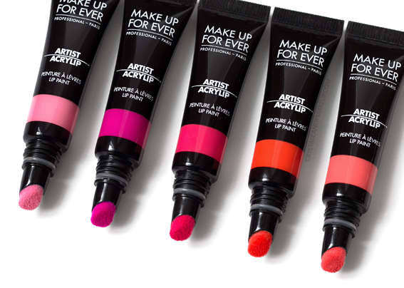 Make Up For Ever Artist Acrylip Lip Paints Review 200 201 202 300 301