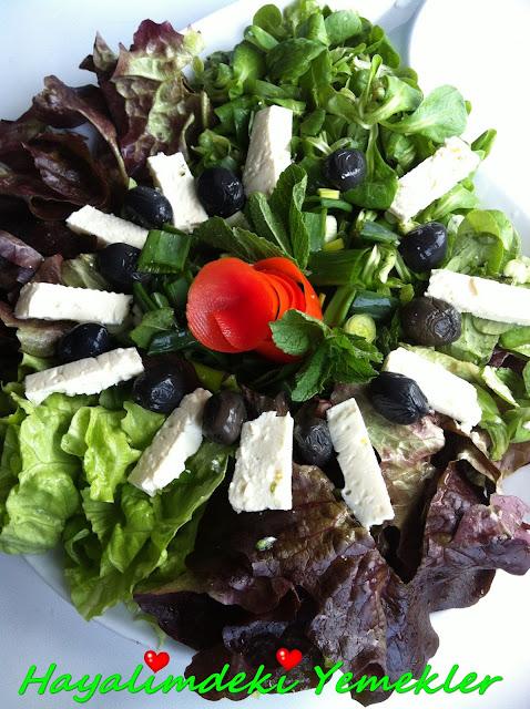 Akdeniz Salatası nasil yapilir ,resimli salata tarifleri