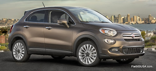 Fiat 500X in Matte Bronze Paint