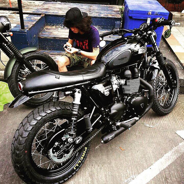 Murdered Out Triumph Scrambler