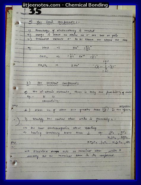 Chemical Bonding Notes IITJEE 11