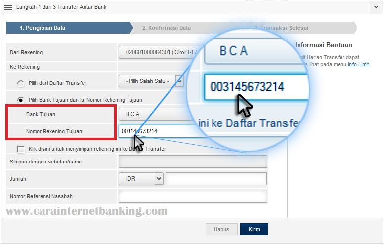 Cara Transfer Uang Via Internet Banking Bri Ke Sesama Bank Lain