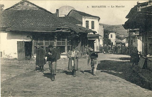 Part of the Old Bazaar overlooking the Smilevski Bair in 1917
