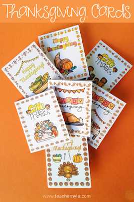 Thanksgiving Cards for classroom