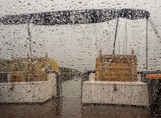 Photo of soggy Sunday at Maryport Marina